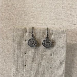 Gray pave earrings